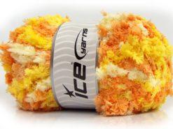 Lot of 4 x 100gr Skeins Ice Yarns PUFFY POPCORN (100% MicroFiber) Yarn Yellow Shades