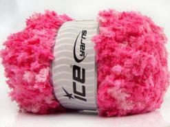 Lot of 4 x 100gr Skeins Ice Yarns PUFFY POPCORN (100% MicroFiber) Yarn Pink Shades