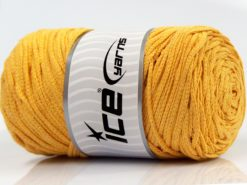 250 gr ICE YARNS MACRAME COTTON BULKY (100% Cotton) Yarn Light Yellow
