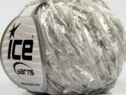 Lot of 8 Skeins Ice Yarns SALE RIBBON Hand Knitting Yarn Silver