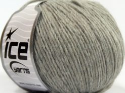 Lot of 8 Skeins Ice Yarns SALE PLAIN Hand Knitting Yarn Light Grey