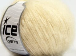 Lot of 8 Skeins Ice Yarns SALE WINTER (35% Mohair) Hand Knitting Yarn Ecru