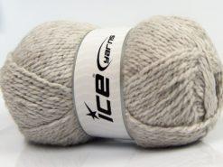 Lot of 4 x 100gr Skeins Ice Yarns BABY WOOL GLITZ (30% Wool) Yarn Light Grey