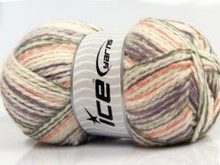 Lot of 4 x 100gr Skeins Ice Yarns WOOL FUN COLORS (30% Wool) Yarn Cream Lavender Salmon Grey