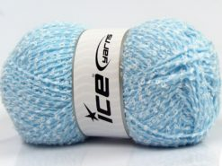 Lot of 4 x 100gr Skeins Ice Yarns SALE BOUCLE Hand Knitting Yarn Blue White
