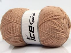Lot of 4 x 100gr Skeins Ice Yarns WOOLRICH SOFTY FINE (65% Wool) Yarn Light Camel