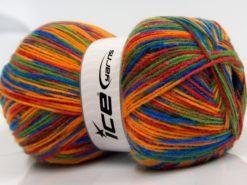 Lot of 2 x 200gr Skeins Ice Yarns COLORWAY DK 200 Hand Knitting Yarn Rainbow
