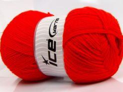 400 gr ICE YARNS WOOL ARAN 400 (35% Wool) Hand Knitting Yarn Red