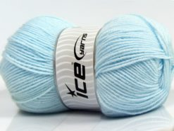Lot of 4 x 100gr Skeins Ice Yarns SOFTLY BABY FINE Yarn Baby Blue