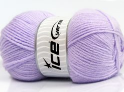 Lot of 4 x 100gr Skeins Ice Yarns SOFTLY BABY FINE Yarn Light Lilac