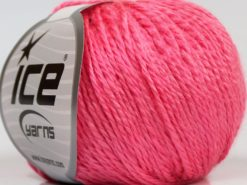 Lot of 8 Skeins Ice Yarns SALE PLAIN Hand Knitting Yarn Pink