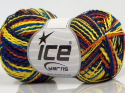Lot of 8 Skeins Ice Yarns FLAMME ACRYL DK Yarn Navy Blue Yellow Copper