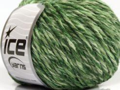 Lot of 8 Skeins Ice Yarns SALE WINTER (30% Wool) Yarn Green Shades