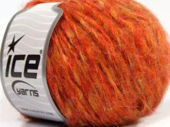 Lot of 8 Skeins Ice Yarns SALE WINTER (20% Mohair 10% Wool) Yarn Orange Shades