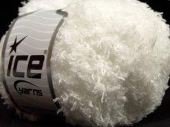Lot of 8 Skeins Ice Yarns SALE EYELASH (100% MicroFiber) Yarn White