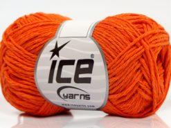 Lot of 8 Skeins Ice Yarns SALE SUMMER (50% Cotton) Hand Knitting Yarn Orange