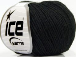 Lot of 8 Skeins Ice Yarns SALE WINTER (50% Wool) Hand Knitting Yarn Black