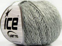 Lot of 8 Skeins Ice Yarns SALE WINTER (30% Wool) Hand Knitting Yarn Grey Silver