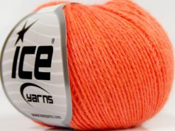 Lot of 8 Skeins Ice Yarns SALE PLAIN Hand Knitting Yarn Orange