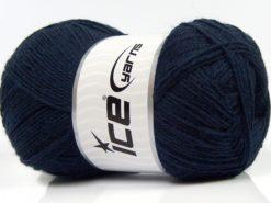 Lot of 4 x 100gr Skeins Ice Yarns SOLID SOCK (75% Superwash Wool) Yarn Dark Navy