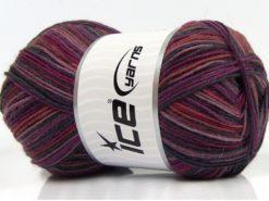 Lot of 4 x 100gr Skeins Ice Yarns MAGIC SOCK (75% Superwash Wool) Yarn Purple Shades Fuchsia