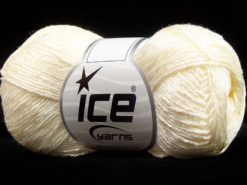 Lot of 8 Skeins Ice Yarns SUMMER FINE (67% Cotton 33% Viscose) Yarn Cream