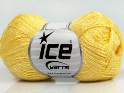 Lot of 8 Skeins Ice Yarns SUMMER FINE (67% Cotton 33% Viscose) Yarn Light Yellow