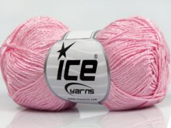 Lot of 8 Skeins Ice Yarns SUMMER FINE (67% Cotton 33% Viscose) Yarn Light Pink