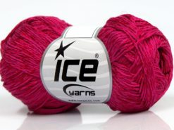 Lot of 8 Skeins Ice Yarns SUMMER FINE (67% Cotton 33% Viscose) Yarn Fuchsia
