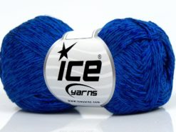 Lot of 8 Skeins Ice Yarns SUMMER FINE (67% Cotton 33% Viscose) Yarn Saxe Blue