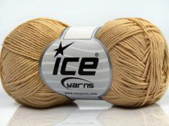 Lot of 8 Skeins Ice Yarns PURE COTTON FINE (100% Cotton) Yarn Dark Cream