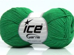 Lot of 8 Skeins Ice Yarns PURE COTTON FINE (100% Cotton) Yarn Green
