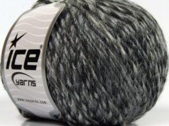 Lot of 8 Skeins Ice Yarns WOOL CORD DK (40% Wool) Yarn Black Grey Shades