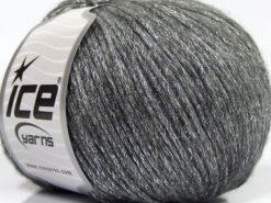 Lot of 8 Skeins Ice Yarns NIGHT STAR (17% Wool 7% Viscose) Yarn Grey Silver