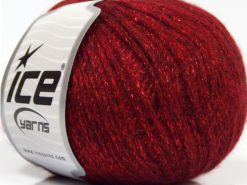 Lot of 8 Skeins Ice Yarns NIGHT STAR (17% Wool 7% Viscose) Yarn Red