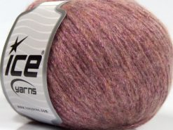 Lot of 8 Skeins Ice Yarns NIGHT STAR (17% Wool 7% Viscose) Yarn Light Pink