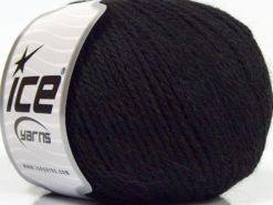 Lot of 8 Skeins Ice Yarns ALPACA LIGHT (18% Alpaca 20% Wool) Yarn Black