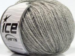 Lot of 8 Skeins Ice Yarns ALPACA LIGHT (18% Alpaca 20% Wool) Yarn Light Grey