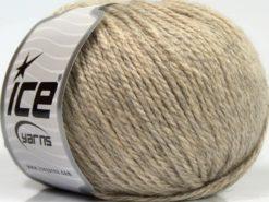 Lot of 8 Skeins Ice Yarns ALPACA LIGHT (18% Alpaca 20% Wool) Yarn Beige Melange