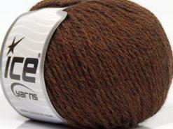 Lot of 8 Skeins Ice Yarns ALPACA LIGHT (18% Alpaca 20% Wool) Yarn Dark Brown