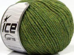 Lot of 8 Skeins Ice Yarns ALPACA LIGHT (18% Alpaca 20% Wool) Yarn Green