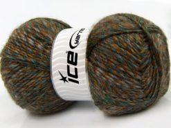 Lot of 2 x 150gr Skeins Ice Yarns HARMONY ALPACA (19% Alpaca 10% Wool) Yarn Brown Gold Green Grey
