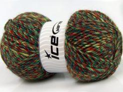 Lot of 2 x 150gr Skeins Ice Yarns HARMONY ALPACA (19% Alpaca 10% Wool) Yarn Green Shades Copper