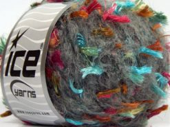 Lot of 8 Skeins Ice Yarns SALE LUXURY-PREMIUM (15% Alpaca Superfine 30% Cotton) Yarn Grey Fuchsia Turquoise Copper Black Gold