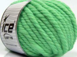 Lot of 3 x 100gr Skeins Ice Yarns JUMBO PURE WOOL (100% Wool) Yarn Light Green