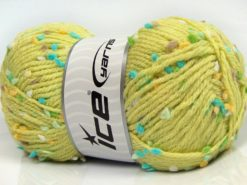 Lot of 3 x 100gr Skeins Ice Yarns SNOW FLAKE Yarn Green Turquoise Camel