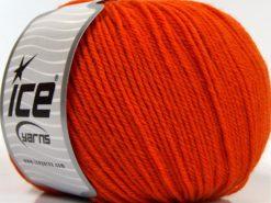 Lot of 3 x 100gr Skeins Ice Yarns SUPERWASH MERINO WOOL Yarn Orange