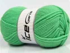 Lot of 3 x 100gr Skeins Ice Yarns SUPERWASH MERINO WOOL Yarn Mint Green