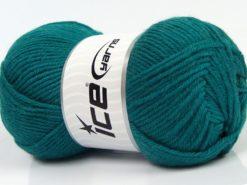Lot of 3 x 100gr Skeins Ice Yarns SUPERWASH MERINO WOOL Yarn Emerald Green