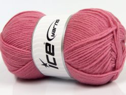 Lot of 3 x 100gr Skeins Ice Yarns SUPERWASH MERINO WOOL Yarn Light Pink